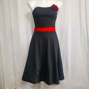 Ruby Rox pin-up strappless dress
